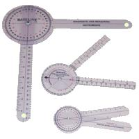 Baseline 360 Degrees Transparent Plastic Goniometer